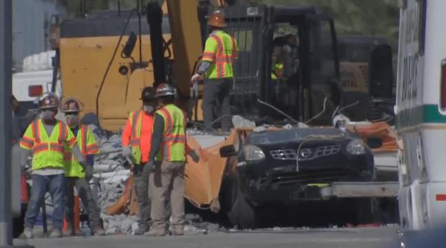 2 Cars, 3 Bodies Extracted From Under Fallen Pedestrian Bridge