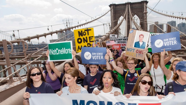 Protesters March Across Brooklyn Bridge for Gun Control