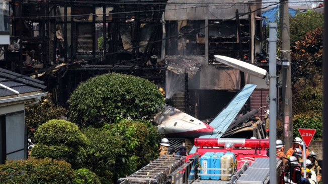 Small Plane Crashes in Tokyo, Setting Homes Ablaze