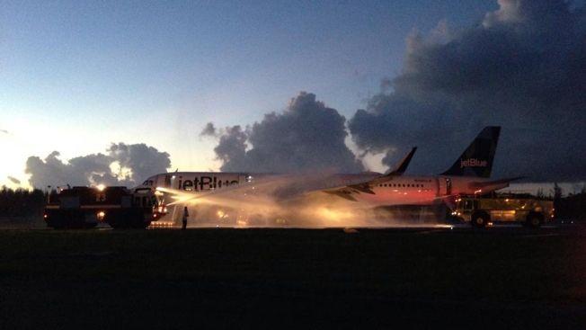 NYC-Bound Flight Evacuated After Engine Fire