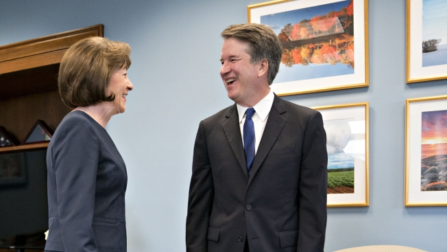 Roe v. Wade Is Settled Law, Kavanaugh Tells Potential Swing Vote Sen. Collins