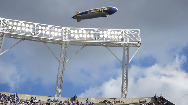 Rare Air: Goodyear Blimp Flying High Into College Football Hall of Fame