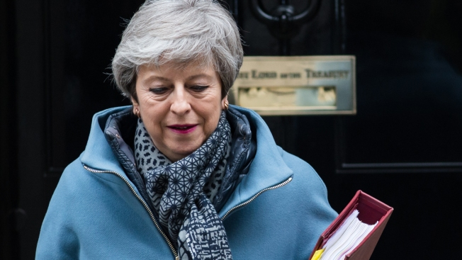 UK Leader May Says She'll Step Down If Brexit Deal OK'd