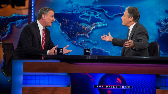 "De Blasio Makes Debut on ""The Daily Show"""