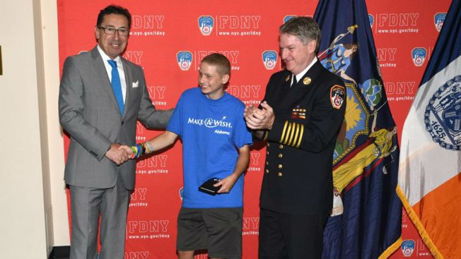 Alabama Teen Honored as NY Firefighter Via Make-A-Wish