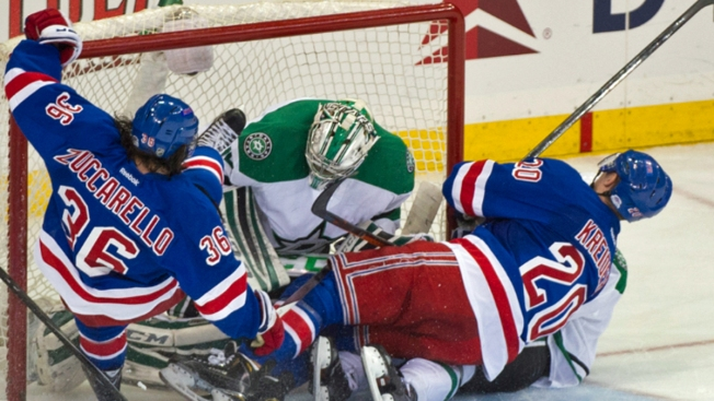 Rangers Fall in OT After Third-Period Barrage