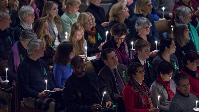 Vigil For Sandy Hook Victims Held at Nat'l Cathedral