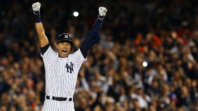 The New York Yankees retire Derek Jeter's No. 2