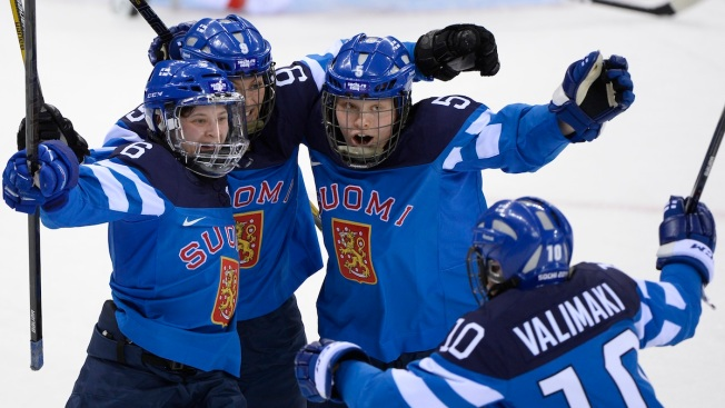Finland Beats Switzerland 4-3 in Women's Hockey OT