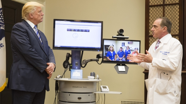 Trump Promotes Technology to Improve Veterans' Health Care