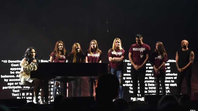 Demi Lovato Brings Parkland Students Onstage at Concert