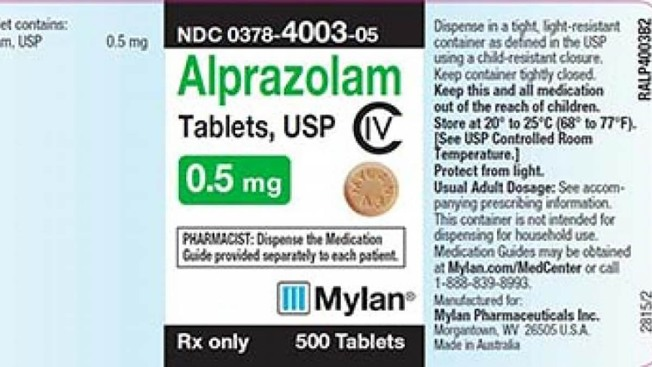 Anti-Anxiety Med Alprazolam Recalled Due to Possible 'Foreign Substance'