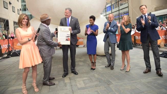 """De Blasio Declares """"Al Roker Appreciation Day"""" in NYC"""