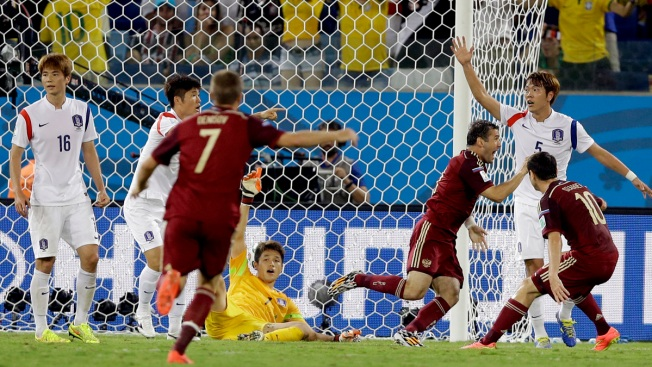 Russia Draws 1-1 with South Korea in World Cup