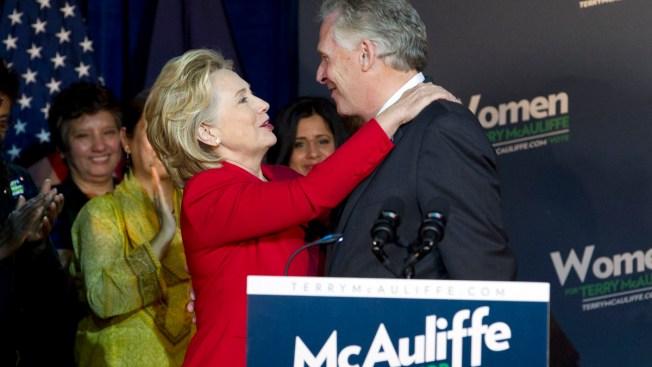 Hillary Clinton Campaigns in VA for McAuliffe