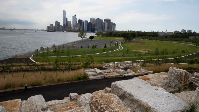 New, Man-Made Hills on Governors Island Offer Spectacular Views