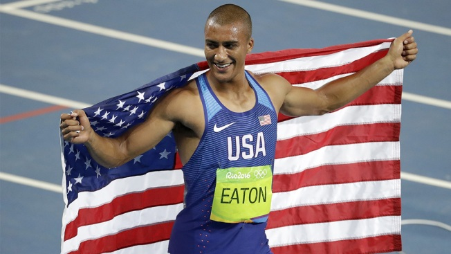 Ashton Eaton Wins Decathlon Gold No. 2 on Wild Day of Olympic Track and Field