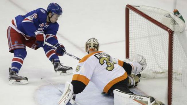 Rangers Fall to Flyers in Shutout 2-0