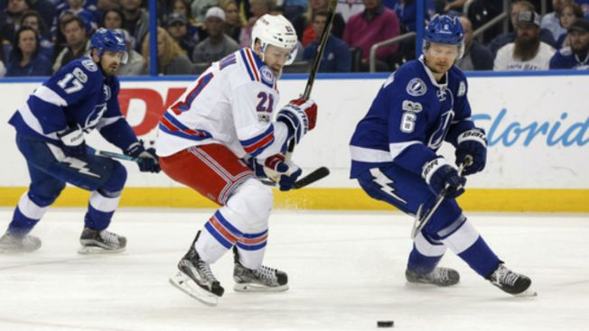 Zibanejad, Raanta Lead Rangers to 1-0 OT Win Over Lightning