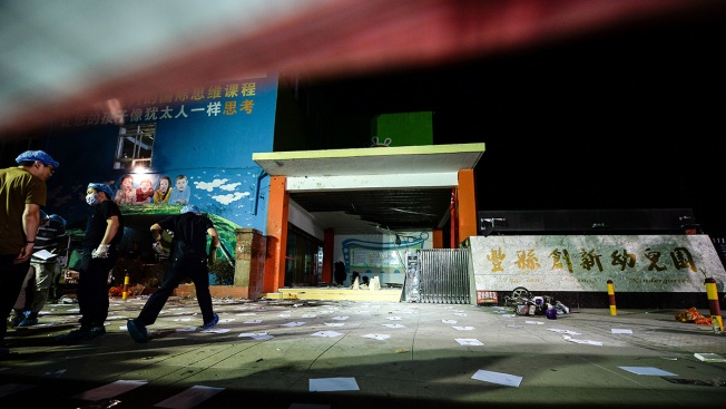 Seven dead, dozens hurt after explosion outside Chinese kindergarten