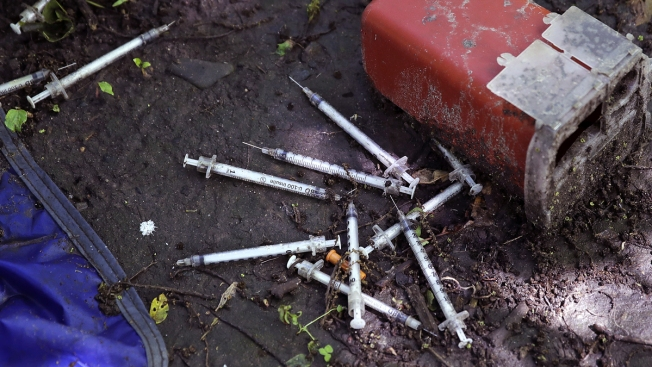 Image result for los angeles homeless hypodermic needles