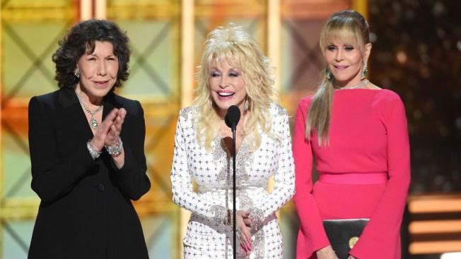 Still Working 9 to 5: Emmy Audience Adores Tomlin, Parton, Fonda Emmy Reunion