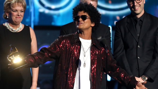 24K Sweep: Bruno Mars Wins Grammy for Album, Record and Song of the Year
