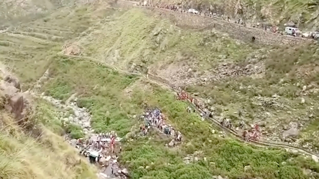 48 Dead After Overcrowded Bus Plunges Into Gorge in India