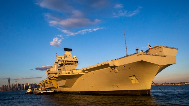 Largest Ship Ever Built for British Navy Visits New York