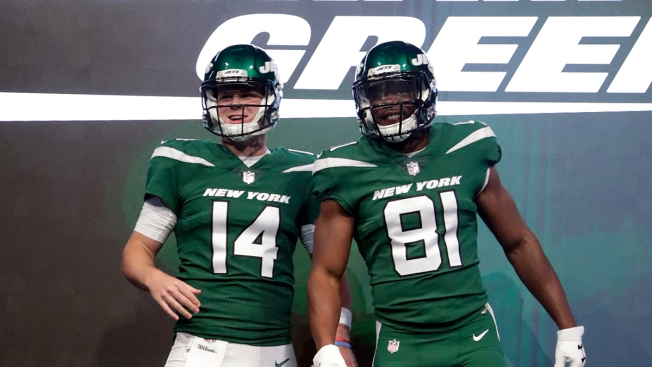 Jets Reveal Flashy New Uniforms, Tweaked Logo NBC New York  for cheap