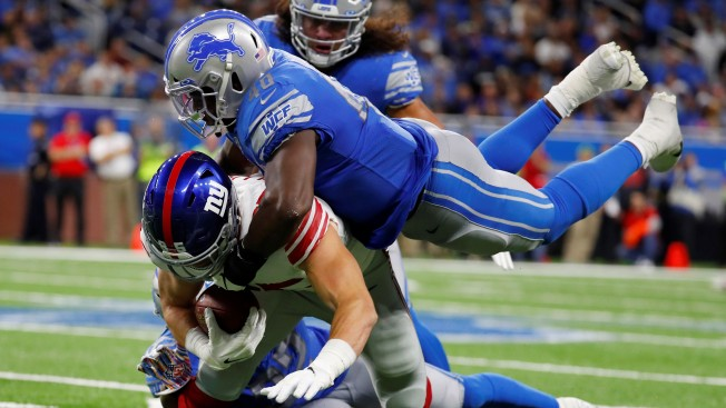 Giants' Only Turnover a Costly One in Another Slow Start