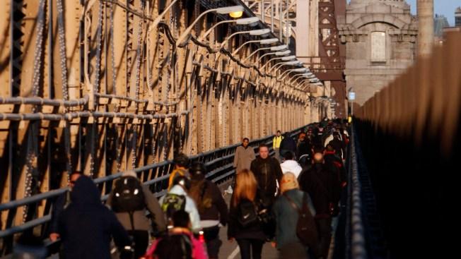 Queensboro Bridge Bike and Pedestrian Lanes Close at Night for Con Edison Project