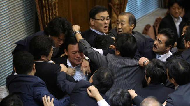 Fight Breaks Out in Japan Parliament