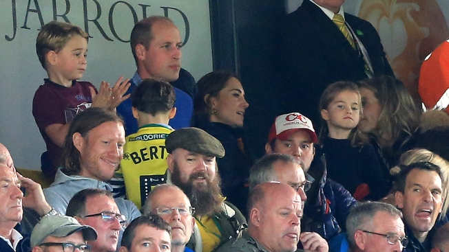 Prince George Is a Soccer Fan on Family Outing With Prince William and Kate Middleton