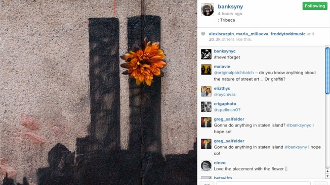 Banksy Spray Paints Twin Towers in Tribeca