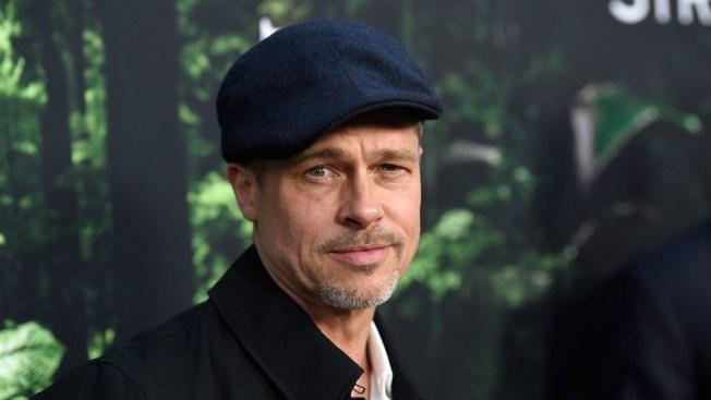 Brad Pitt Makes Rare Showing at Hollywood Premiere