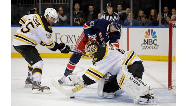 Rick Nash's Return to Rangers Ruined in 1-2 Loss to Bruins