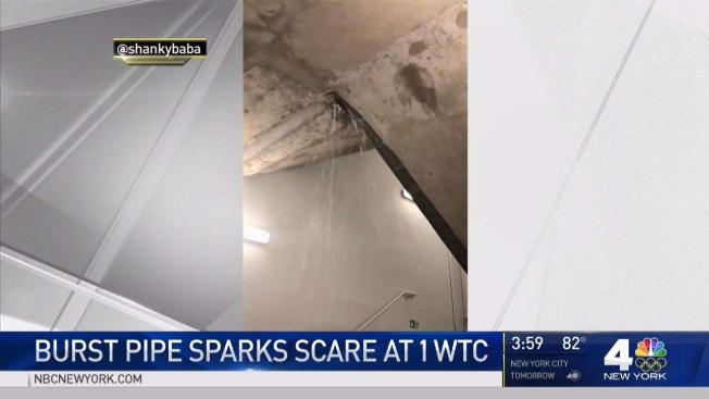 Leak Sends Water Cascading Down Stairwells Stops