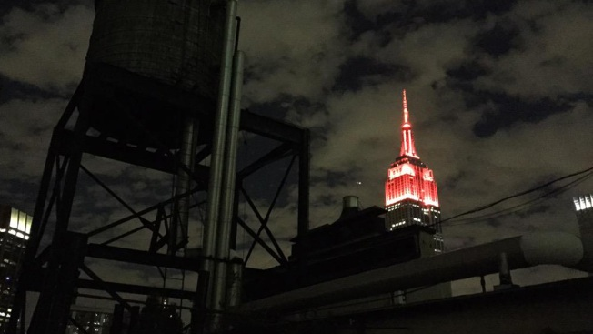 Empire State Building Lit up in Red to Celebrate 150 Years of FDNY