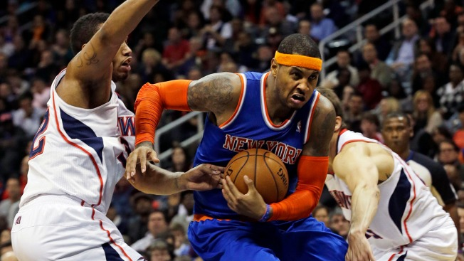 Carmelo Anthony's 25 Points Lift Knicks Past Hawks 95-91