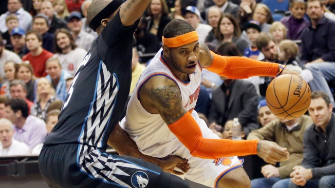 Carmelo Anthony, Knicks Snap 7-Game Skid, Top Wolves 118-106