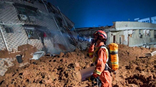 China Landslide Topples Buildings, Buries Dozens Under 20 Feet of Mud