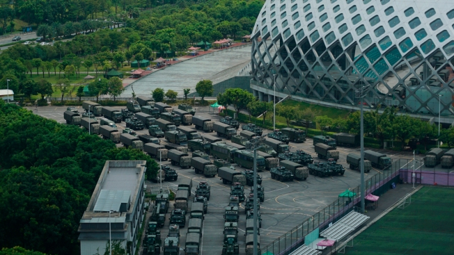 Police Exercises Across From Hong Kong Seen as Threat