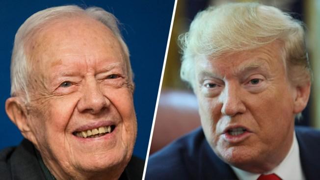 Trump Dismisses Carter's Attacks on His Legitimacy