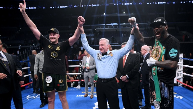 Fury Gets Up After Knockdowns, Wilder Scores Split Draw at Staples Center