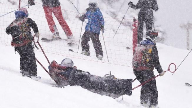Lindsey Vonn Injures Left Knee in Crash at World Cup Race