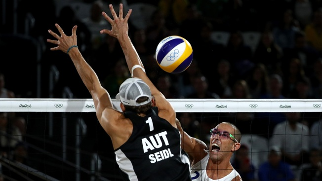 American men advance to Olympic beach volleyball quarters