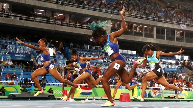 U-S-A 1-2-3: American Women Sweep 100-Meter Hurdles