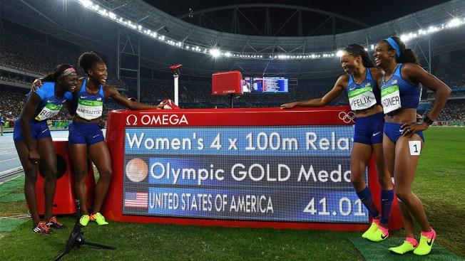 US Women Win 4x100 Relay; Bolt is Golden Again