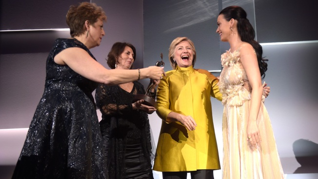 Hillary Clinton Makes Surprise Appearance at UNICEF Gala in NYC